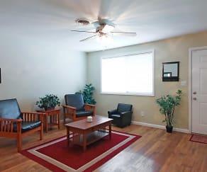 Living Room, South Ridge Apartments