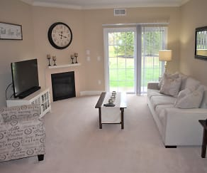 Living Room, Park Place At Glenmont Square Apartments