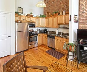 Kitchen, Glen Street Associates Apartments