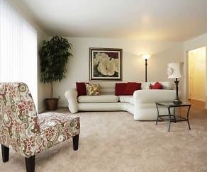 Living Room, Hampton Park Apartments - Sheffield Village Apartments