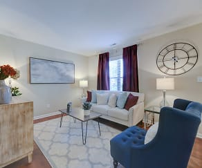 Living Room, Edwards Mill Townhomes and Apartments