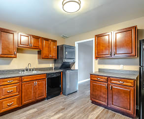 Kitchen, Wingate Townhouse Apartments