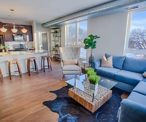 Living Room, The Woodrow Apartments
