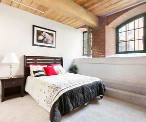 Bedroom, Clocktower Mill Apartments