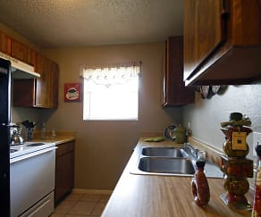 Kitchen, Meadows Apartments