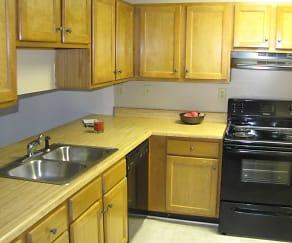 Kitchen, Ridge Pointe Apartment Homes