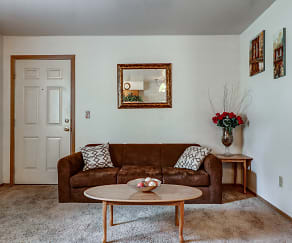 Living Room, Maverick & Hidden Village Apartments