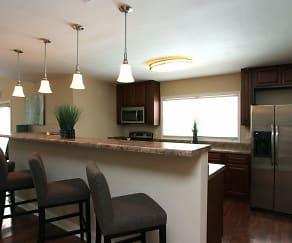 Kitchen, Silas Creek Apartments
