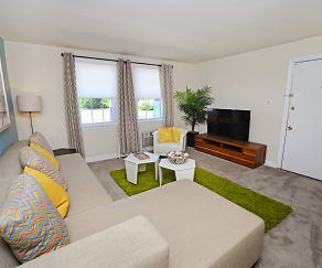 Living Room, Oak Grove Apartments & Townhomes