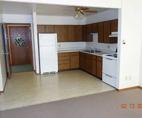 1br family kitchen, Sunrise Valley Apartments