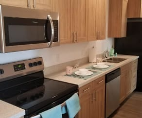 Kitchen, 605 Place Student Housing