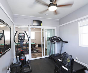 Fitness Weight Room, University Parallel Graduate Student Housing