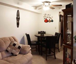 Living Room, Euclid Terrace Apartments