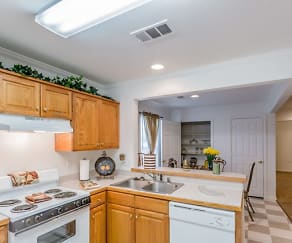 Kitchen, SteepleChase Apartments