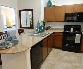 Kitchen, 700 Acqua Luxury Apartments