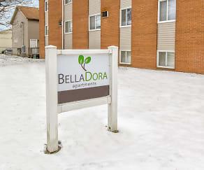 Community Signage, Bella Dora University of Akron Apartments