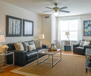 Living Room, Flats at Carrs Hill