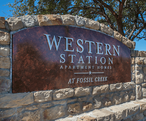 Community Signage, Western Station at Fossil Creek