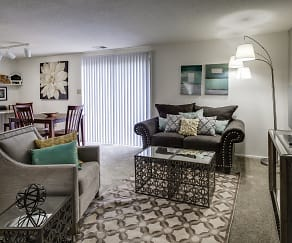 Living Room, Ashmore Trace Apartments of Greenwood