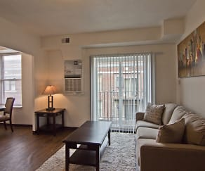 Living Room, Forest Park Apartments