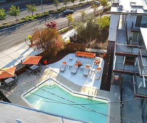 Pool, Solis Garden Apartments