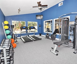 Fitness Weight Room, Mandarin Apartments