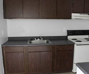 Kitchen, Richmond Club Apartments