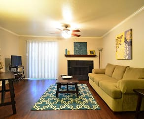 Living Room, Deerwood Apartments