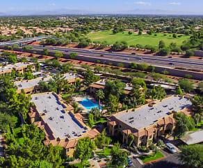 Aerial View of Community, Towne Square Apartments