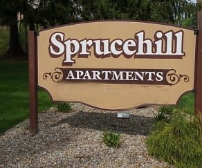 Community Signage, Spruce Hill Apartments
