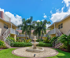 Courtyard, Riverwalk Apartments