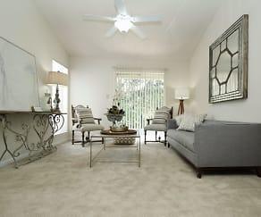 Living Room, Afton Oaks Apartments