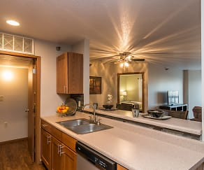 Kitchen, Oxbow Park Apartments