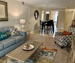 Living Room, Park Village Apartments