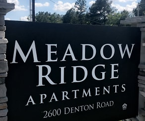 Community Signage, Meadow Ridge Apartments