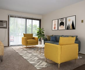 Living Room, Landmark Estate Apartments