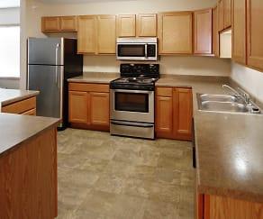 Kitchen, Prairie Heights Apartments
