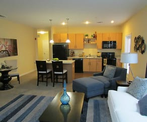 Living Room, Tara Heights Apartments