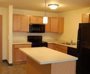 Kitchen, Eagle Harbor Apartments