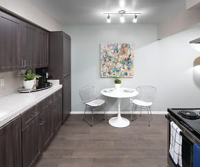 Eat-in Kitchen - Espresso Home Finish Package, Berkdale Apartments