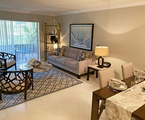 Living room with open concept layout dining room, Turnbury at Palm Beach Gardens