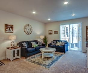 Living Room, Bucking Horse Apartments