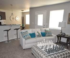 Living Room, Ridgecrest Apartments