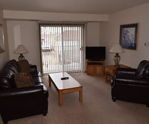 Living Room, Sun West I & II Apartment Homes