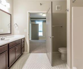 Bathroom, The Woodrow Apartments