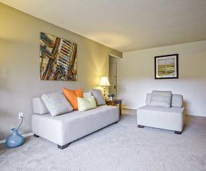 Living Room, Pebble Creek Apartment Homes