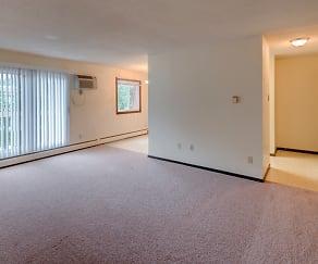Living Room, Lamplighter Village Apartments
