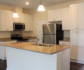 Luxury kitchens with stainless steel appliances, River Oaks Village