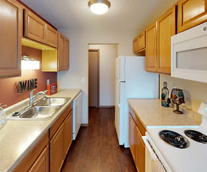 Kitchen, Forest Park Apartments