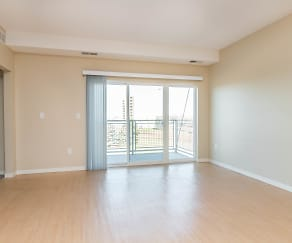 Living Room, Mall View Apartments
